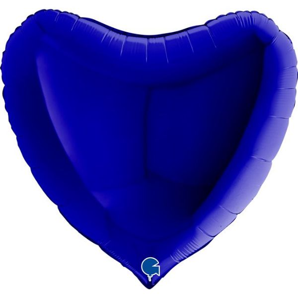 Jumbo Personalised Heart - Capri Blue